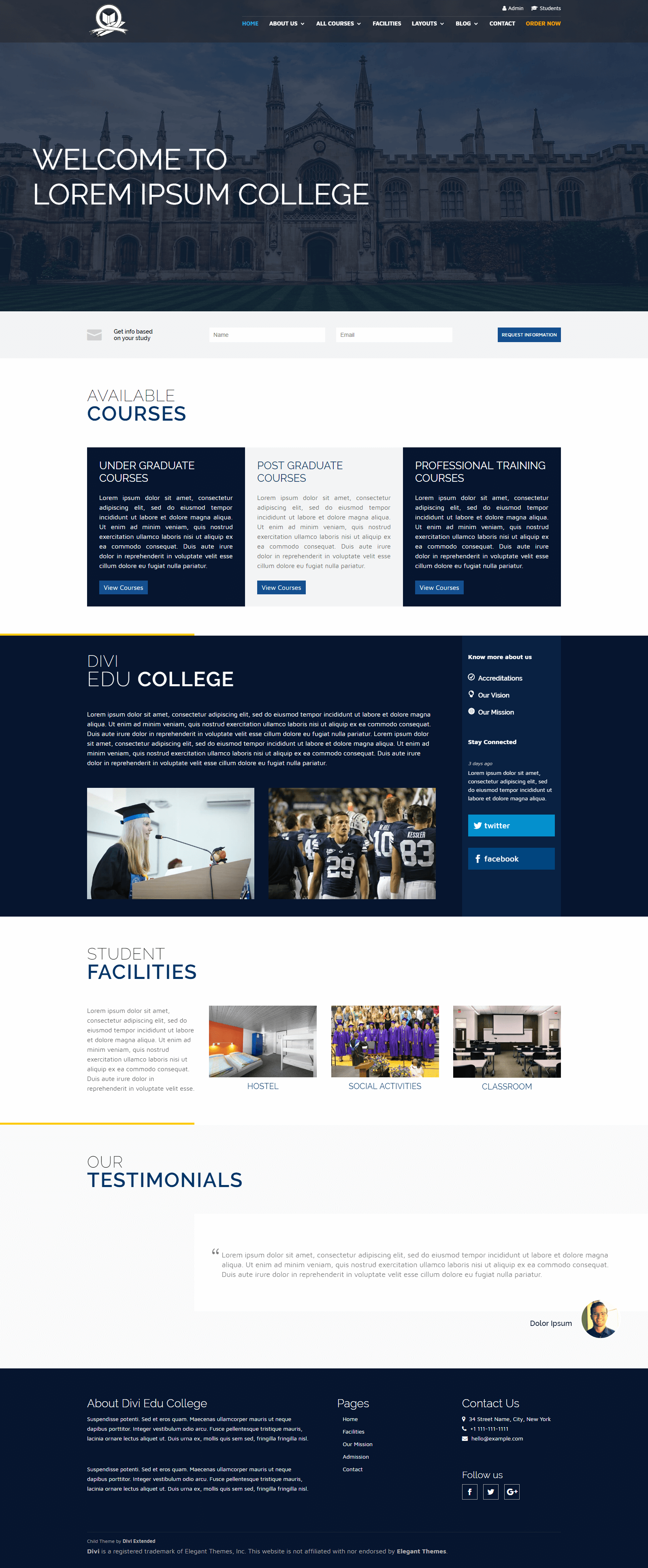 Divi Education Child Theme